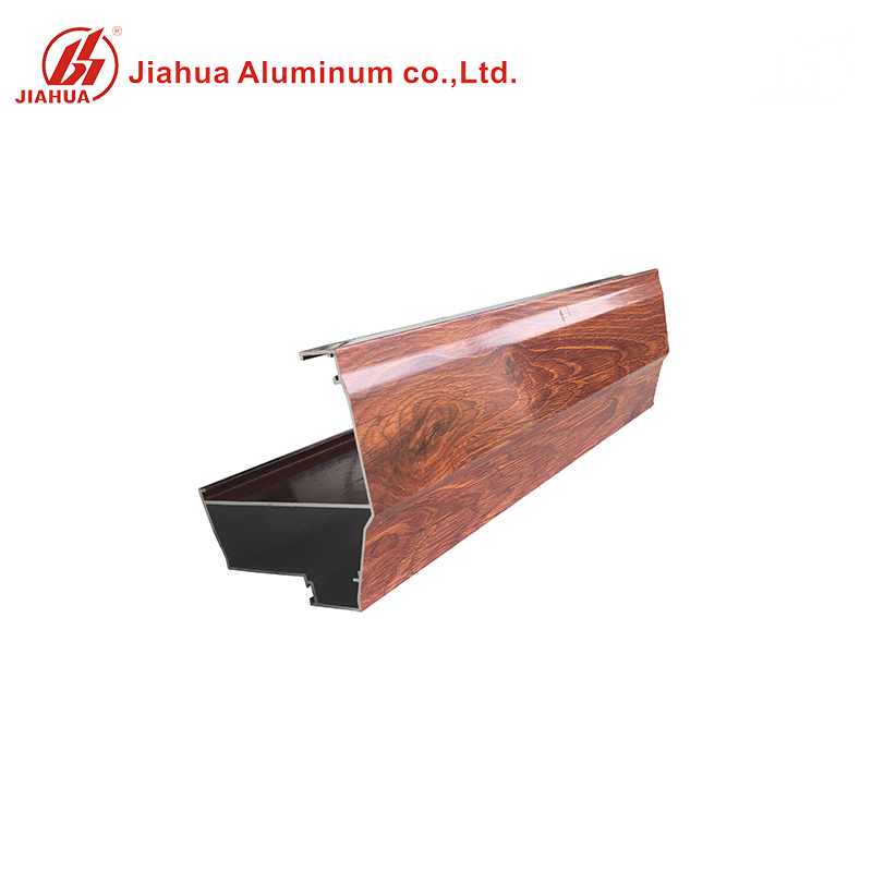 Customized Wood Pattern Grain Finish Aluminum Extrusion Profiles for Cabinet Or Bedroom Wardrobe