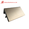 B2B marketing Anodized champagne color extruded aluminium window frame profiles for South American