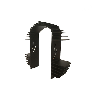 Black Anodized Deep Processing Heat Sink Aluminum Tubing Extrusion Profile for Automotive