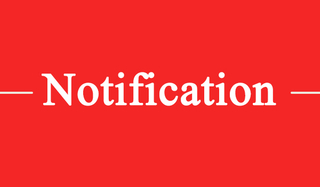 Notification of holiday