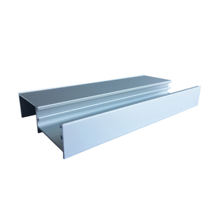 Anodized Silver Color Aluminum Window Mullion Frame Extrusion Profiles for Sliding Windows System
