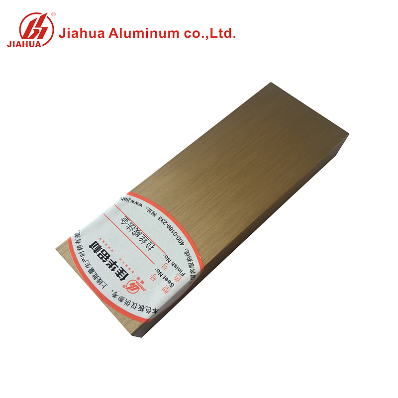 Polishing Aluminum Anodized Rose Gold Frame Profiles for Kitchen Cabinet