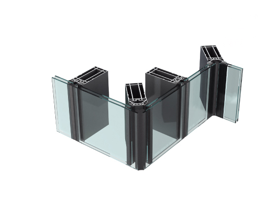 JYMQ130/140/150/160/180/200 Aluminum Invisible Curtain Wall System