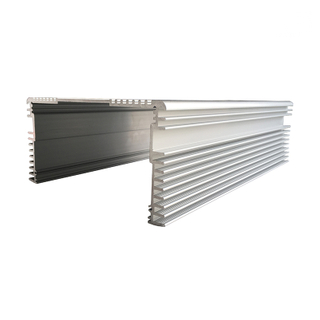 6061 T6 Square Aluminum Extrusion Heat Exchanger Radiator Profiles for Industry