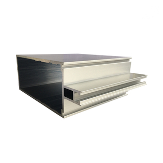 Anodized silver Foshan Jia Hua aluminum curtain wall sction profile for Main beam