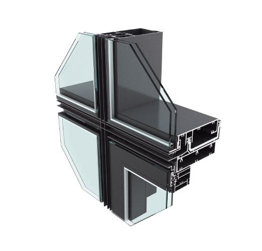 JHMQ Unitize Curtain Wall for Facade
