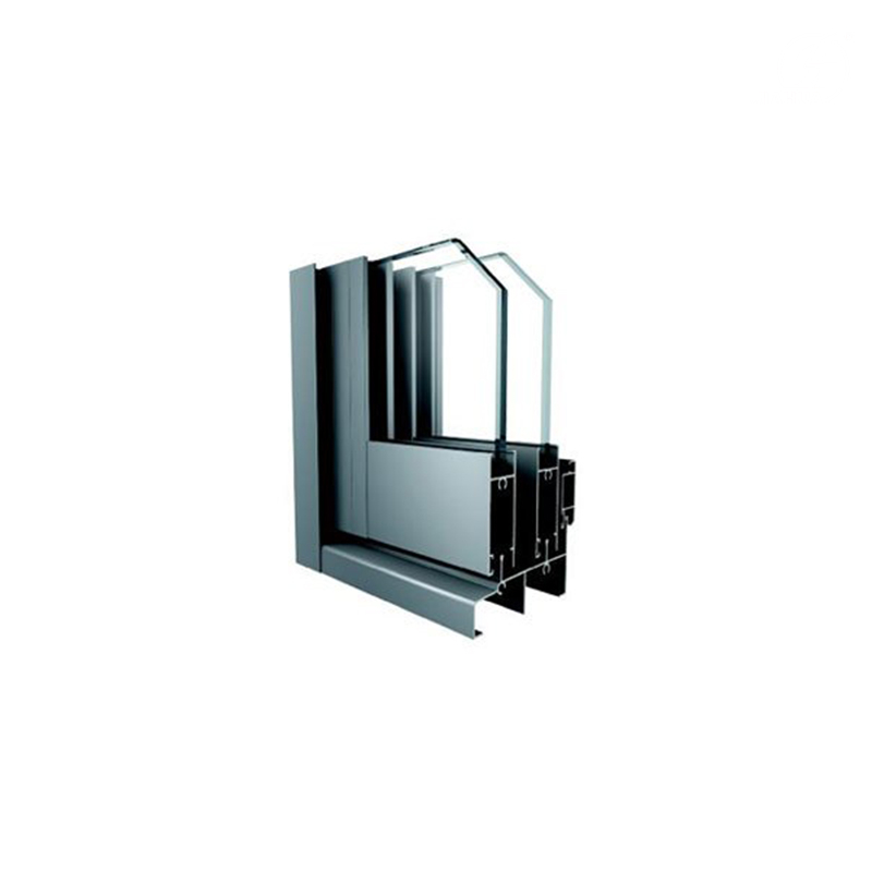 Top 70 Series Anodized Black Horizontal Aluminum Sliding Framed Window for Construction Market
