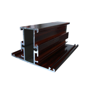 Aluminum Wooden Grain Finish Window Extruded Frame Profiles Price for Philippines Market