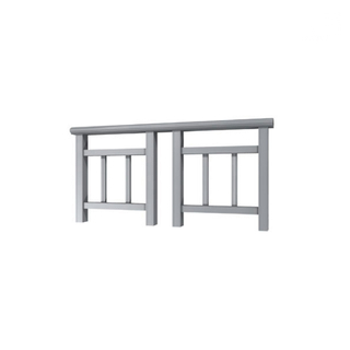 Custom White Color Aluminum Railing Balcony Handrail Extruded Profiles for Front Step