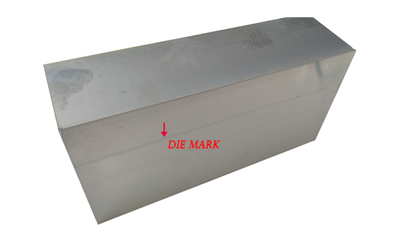 Die mark for aluminum profiles