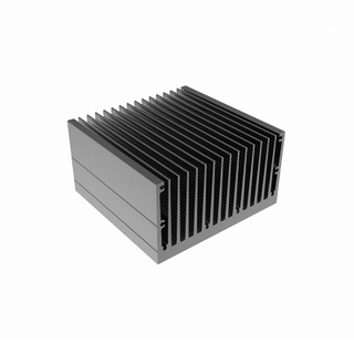 High Efficient Many Fins Anodized Aluminum Heat Sink Radiator Cooler for PCB BOX