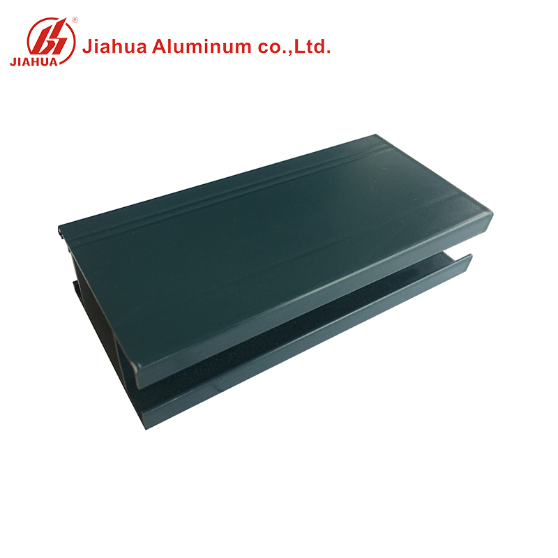 New Green Powder Coating Color of Aluminum Window Sash Profiles for Philippine Market