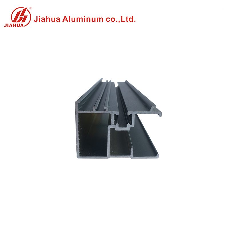 Matt Grey Color Powder Coated Aluminum Windows Section Alloy Profiles for Sales
